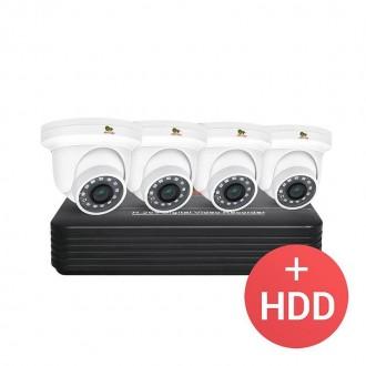 Комплект відеоспостереження Partizan PRO AHD-30 4xCAM + 1xDVR + HDD