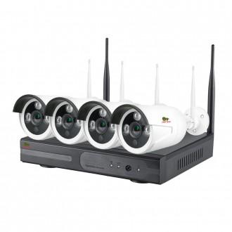 Комплект відеоспостереження Partizan Wi-Fi IP-36 4xCAM + 1xNVR (v1.1)