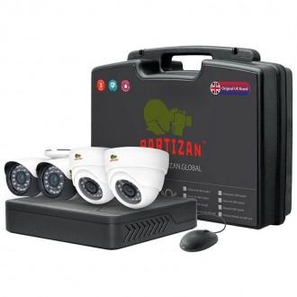 Комплект відеоспостереження Partizan PRO AHD-29 4xCAM + 1xDVR + HDD