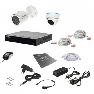 Комплект відеоспостереження Tecsar AHD 2MIX 5MEGA