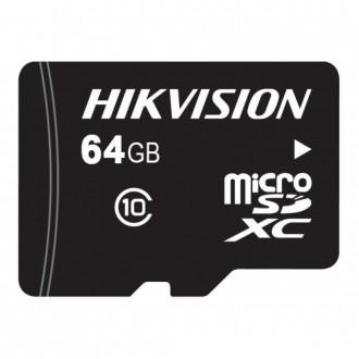 Карта пам'яті Hikvision MicroSD HS-TF-L2I/64G