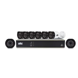 Комплект відеоспостереження Atis kit 8ext 2MP